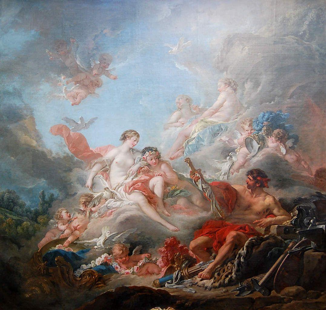 Boucher - Vulcain présentant à Vénus des armes pour Énée - Le Louvre