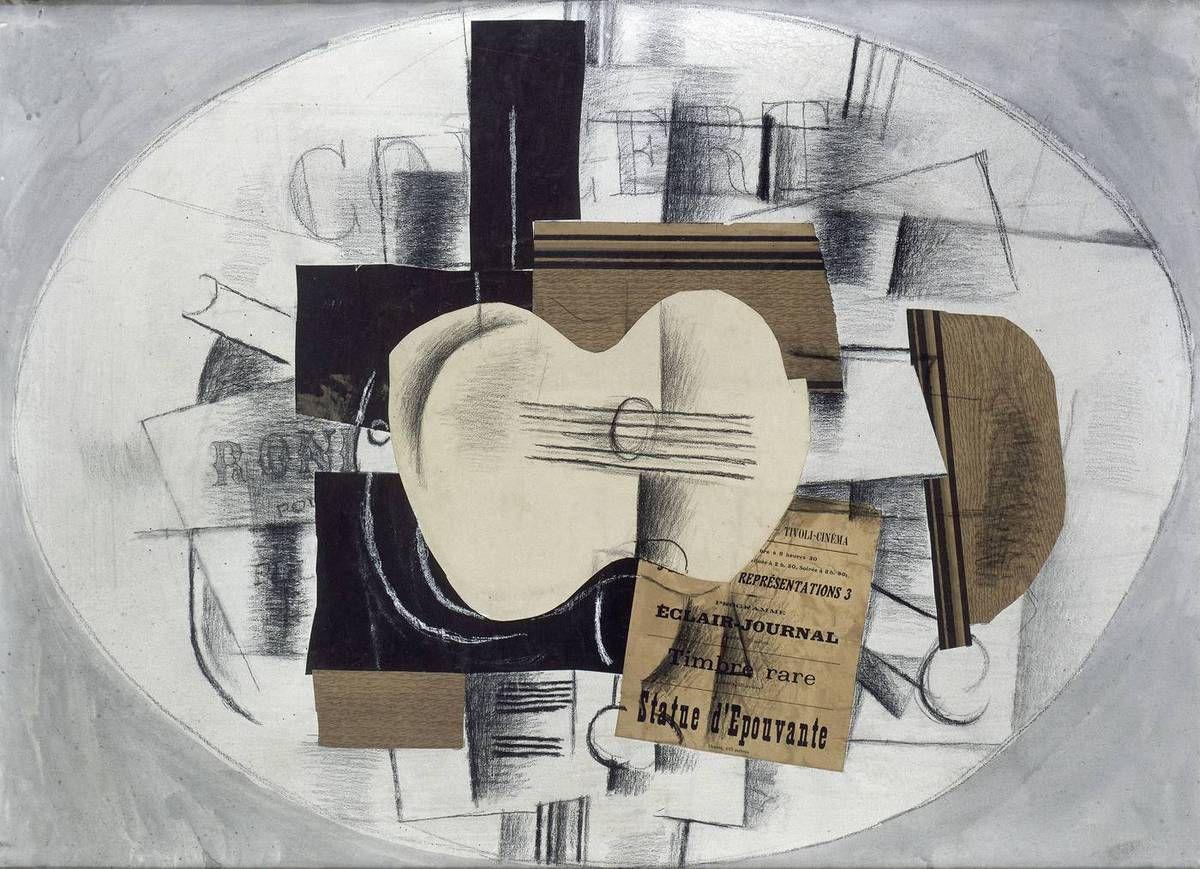 Braque - La guitare statue épouvante