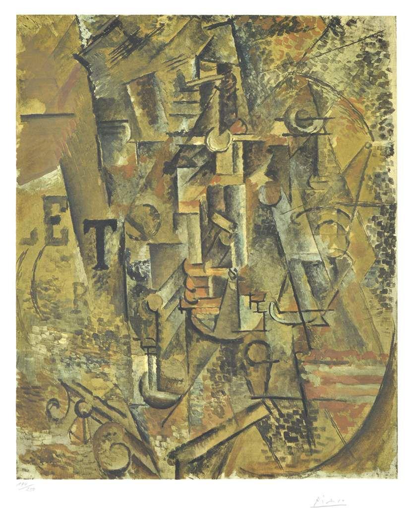 Picasso - Nature morte à la bouteille de rhum
