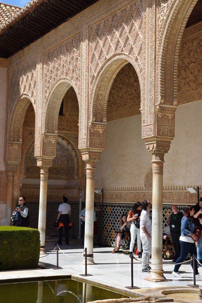 Grenade - Alhambra - Palais des Nasrides - Cour des Myrtes et Palais des Comares - Photos: lankaart (c)