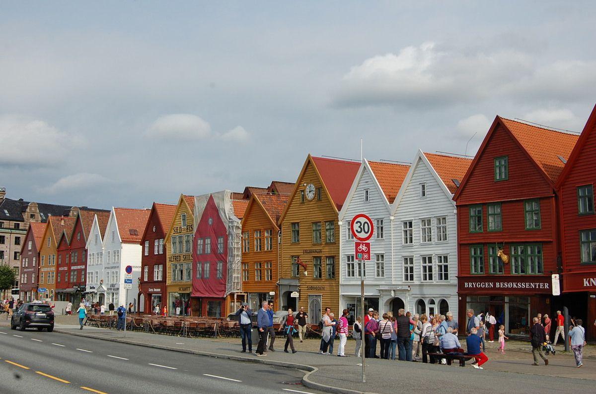Bergen - Bryggen - Lankaart (c)