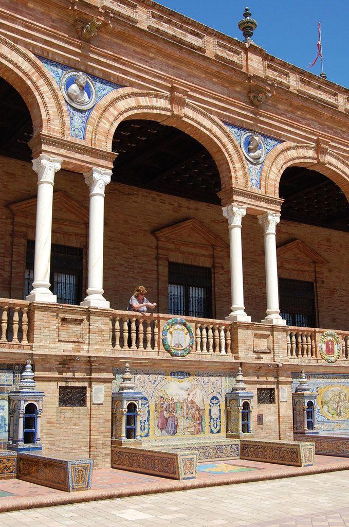 Seville - Plaza d'Espana, exposition Ibéro-américaine. - Photos: Lankaart (c)