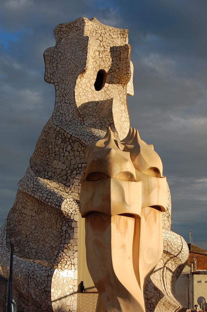 Gaudi - Casa Mila - le toit - Barcelone - Photos: Lankaart (c)
