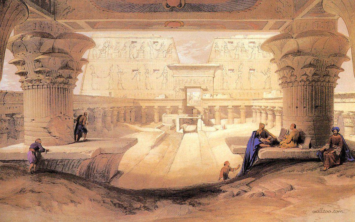 David Roberts - Temple d'Edfou - 1838