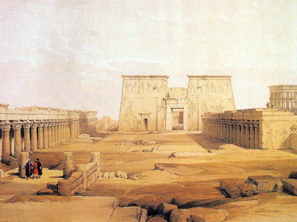David Roberts - Philae - 1838