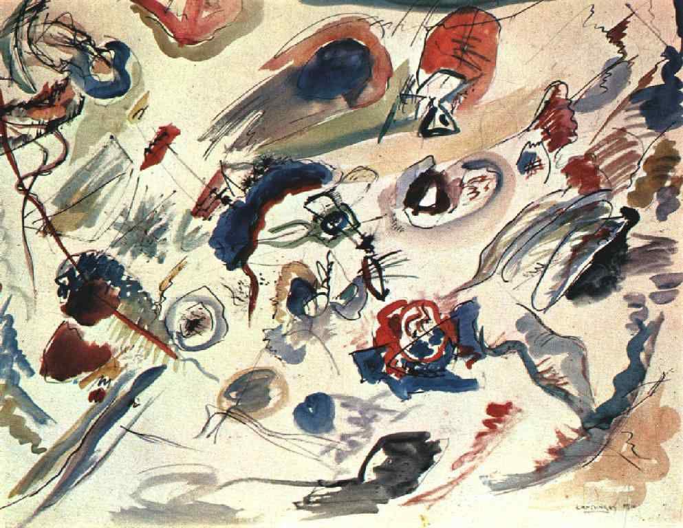 Kandinsky - Aquarelle abstraite - 1910