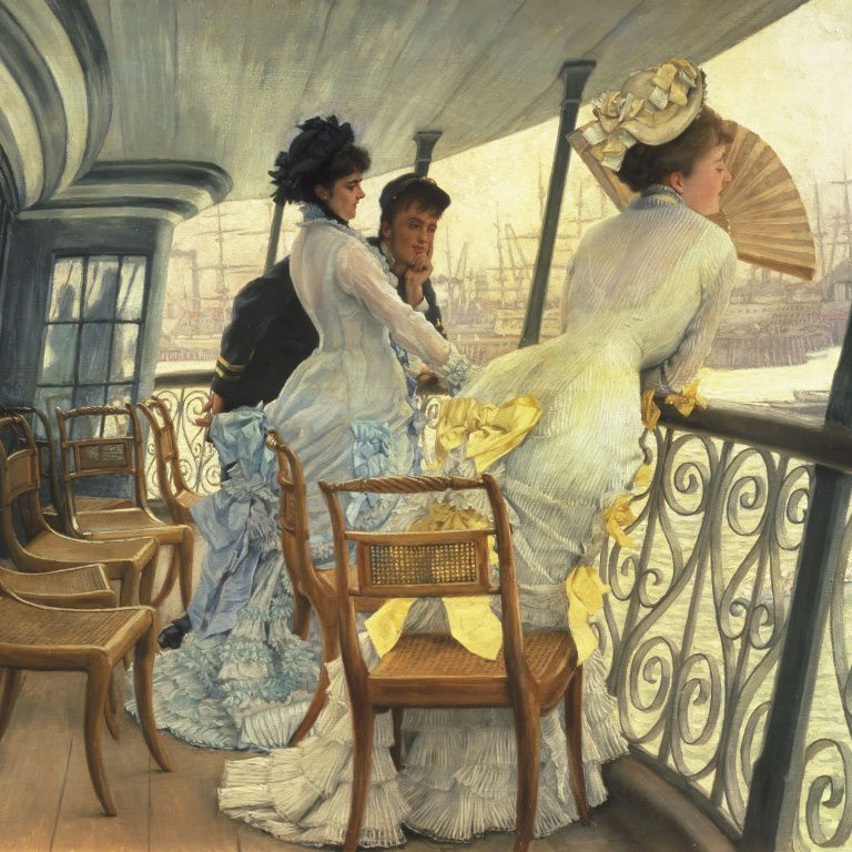 James Tissot - Remembrance Ball on Board - 1877