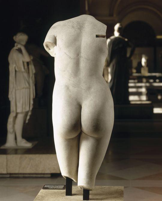 Praxitèle copie Torse de l'Aphrodite de Cnide - Photos: Musée du Louvre (c)