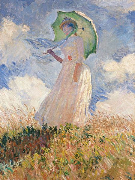 Monet - la femme à l'ombrelle