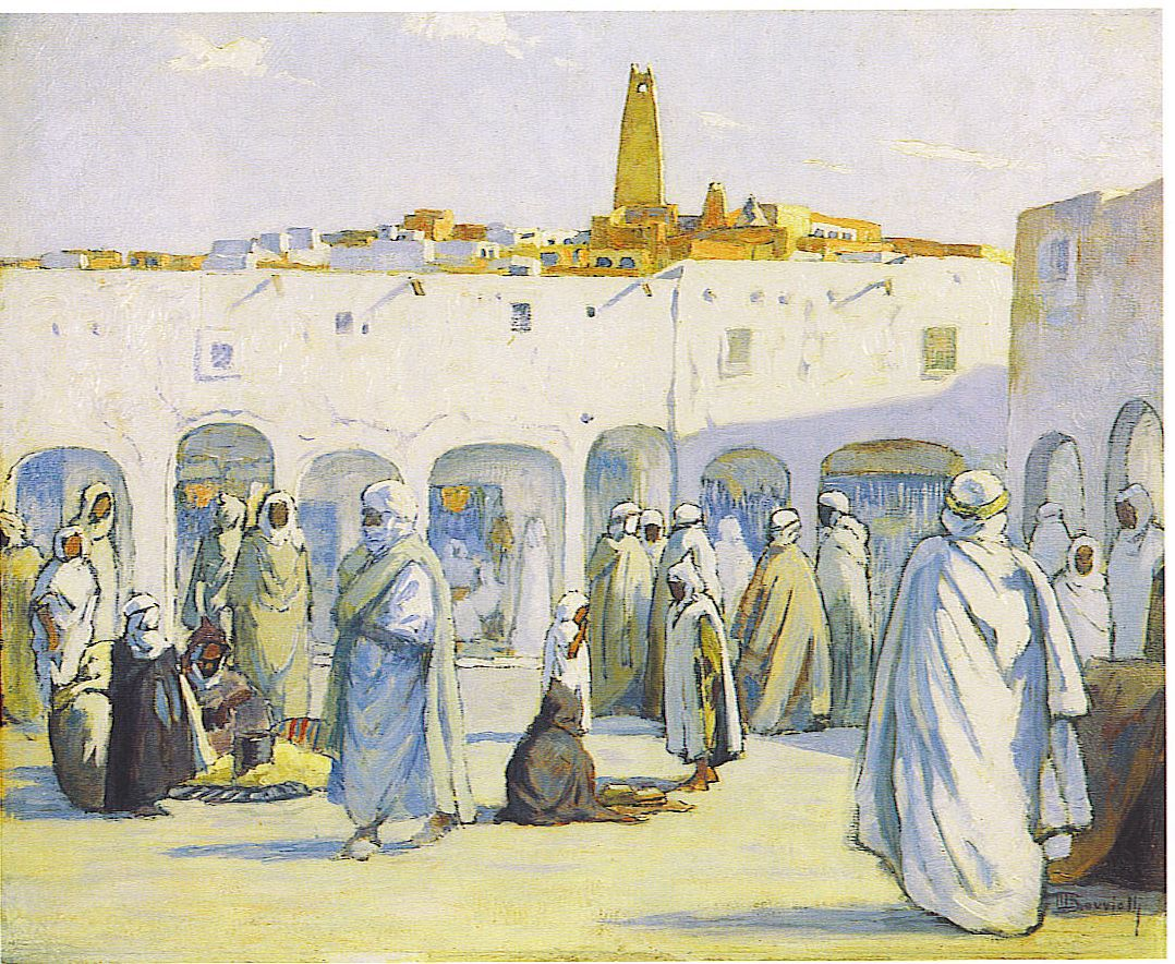 Maurice Bouviolle - Marché à Ghardaïa