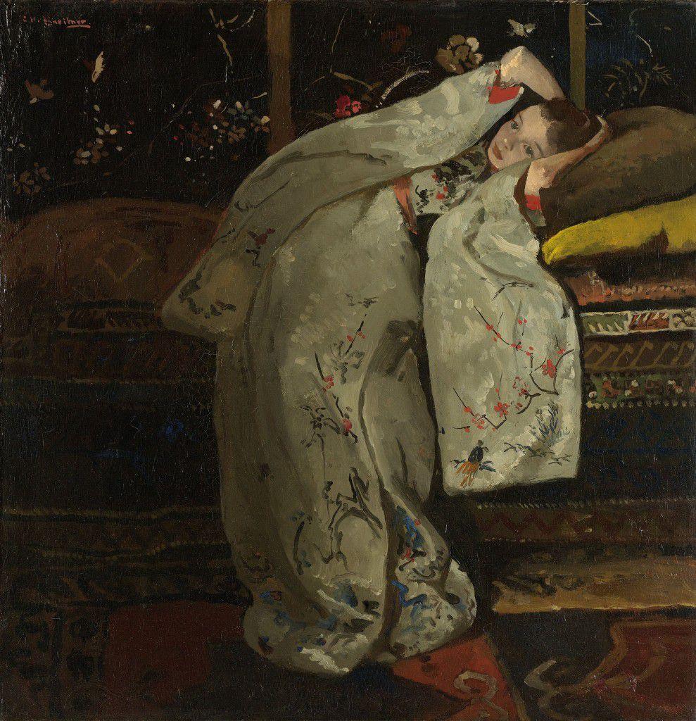George Hendrik Breitner - Fille en kimono blanc - Rijksmuseum Amsterdam, 1894