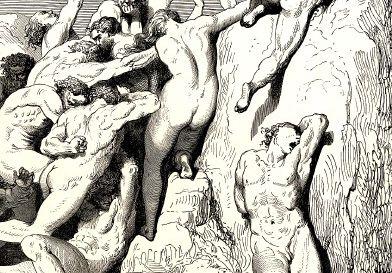 Gustave Dorée - Dante l'Enfer - Détail