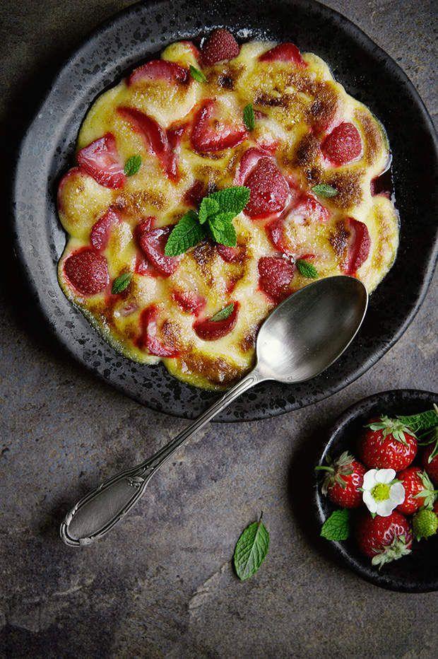 Gratin de fraises au sabayon - recette facile