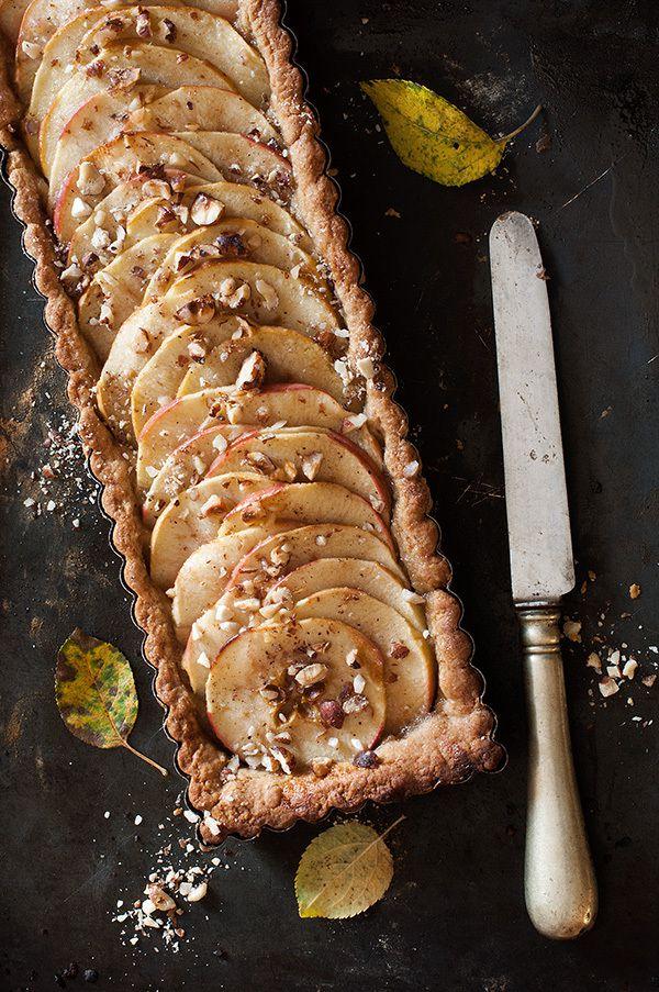 Tarte aux pommes, caramel au beurre salé