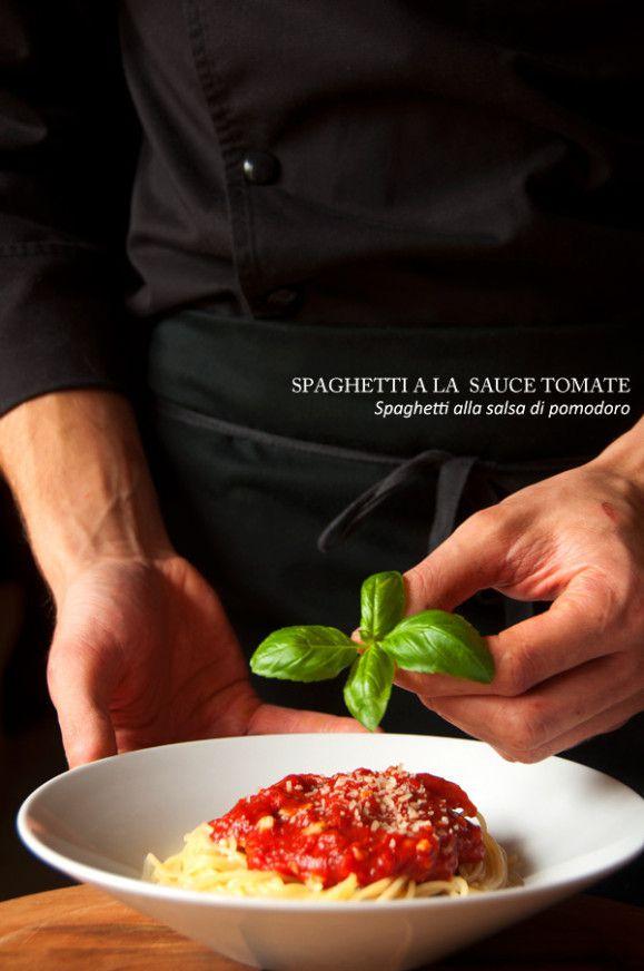 Spaghetti à la sauce tomate - recette facile