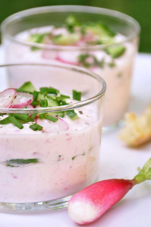 Verrines de radis bio et chèvre frais - recette facile - la cuisine de Nathalie