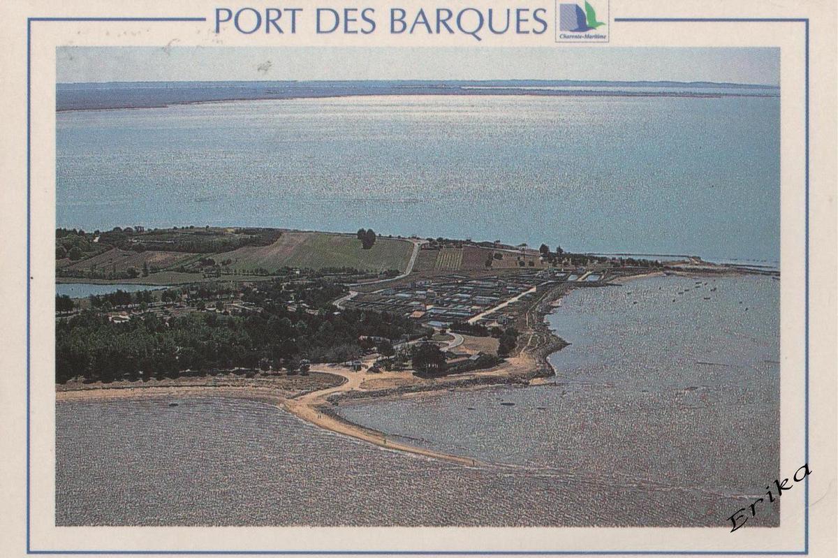 Coucher de soleil à Port des Barques + carte postale de ma collection...