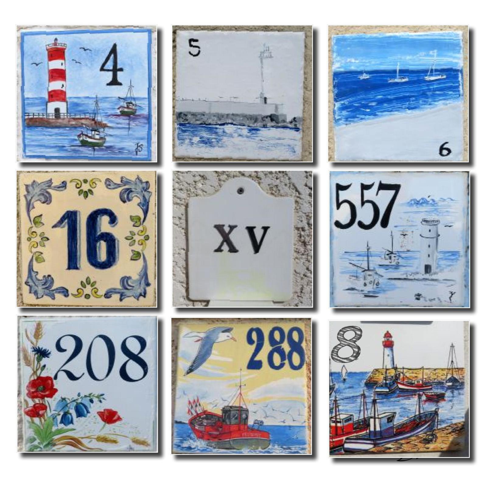 Plaques numéros de maisons...