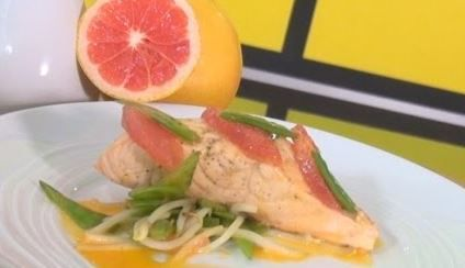 Pavés de saumon au pamplemousse