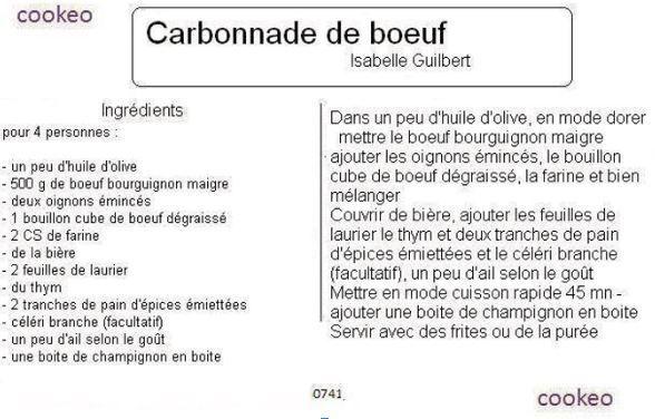 3 recettes cookeo de carbonnade recettes faciles rapides au cookeo et autres robots ou sans - Recette de noel au cookeo ...