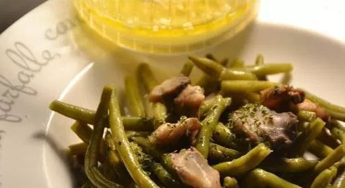 Salade haricots verts champignons  au cookeo
