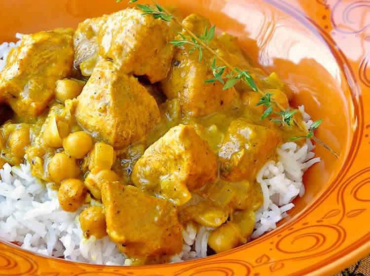 Poulet pois chiches curry weight watchers adapté  au cookeo