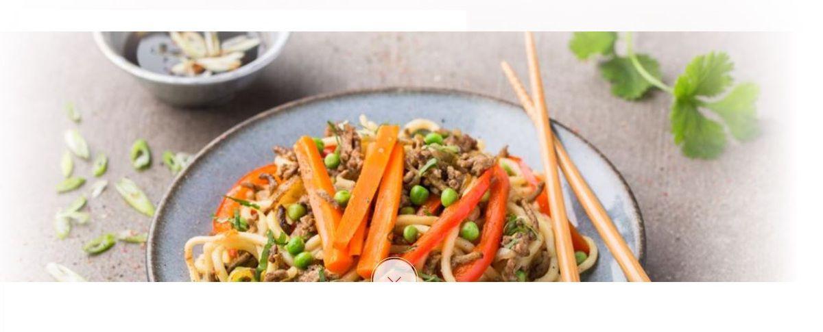 Nouilles chinoises au boeuf recette cookeo Moulinex