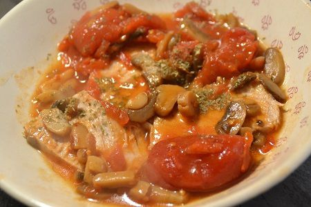 Rôti de porc tomates  au cookeo