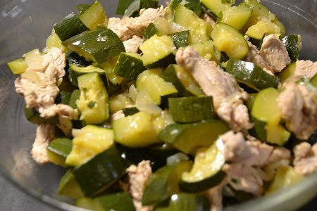 Salade courgettes dinde au  cookeo