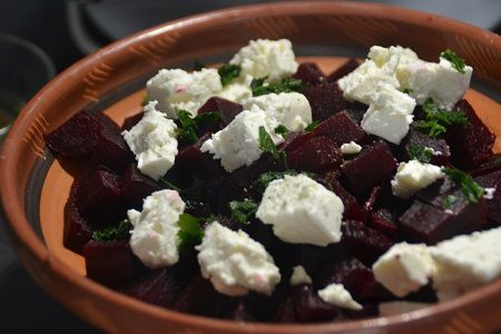 Salade betteraves fromage brebis  recette cookeo