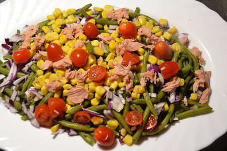 Salade haricots verts thon au cookeo