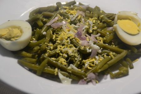 Salade haricots verts oeufs  cookeo