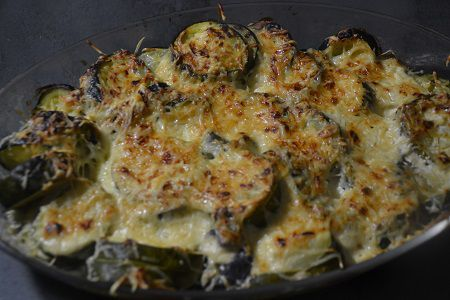 Gratin courgettes aubergines  cookeo