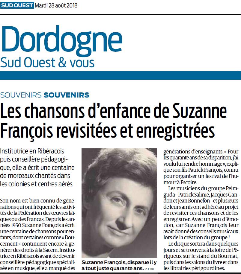 Les chansons de Suzanne François