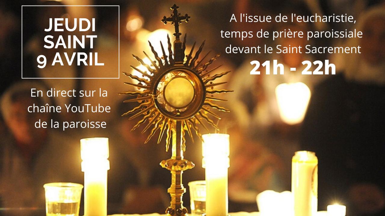RDV jeudi soir après l'eucharistie pour un temps d'adoration en paroisse