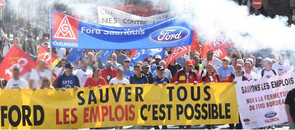 Manifestation réussie pour défendre l'avenir des emplois liés à FORD Aquitaine Industries !