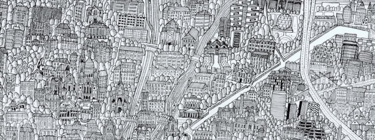 La carte de Paris réalisée par l'illustrateur Pablo Raison (France 3 Paris Ile de France)