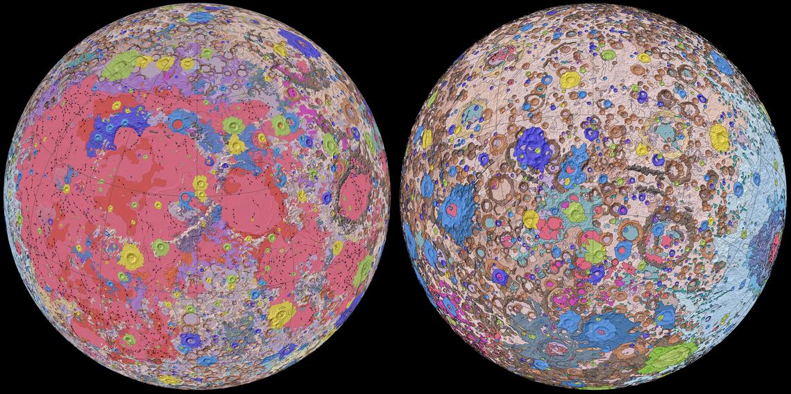 la carte géologique de la lune / USGS