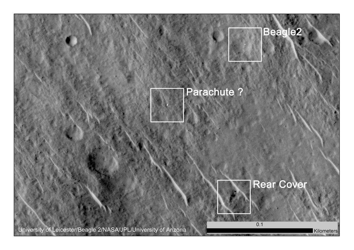 Mars - Beagle 2 vu par la sonde MRO - NASA - Décembre 2014