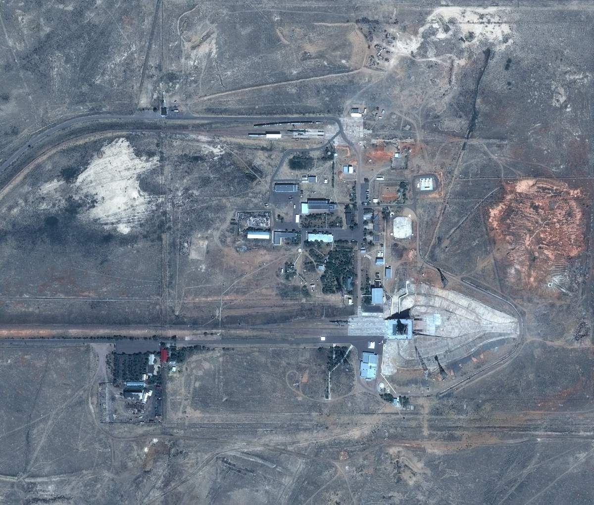 Cosmodrome de Baikonour - Vu par le satellite Pleiades - CNES - Airbus DS - Thomas Pesquet - Proxima