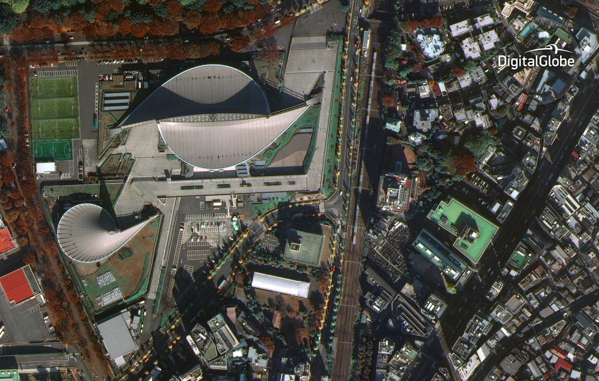WorldView-4 - Satellite - First image - Première image - Tokyo - Yoyogi National Gymnasium - 30 cm resolution - Digital Globe