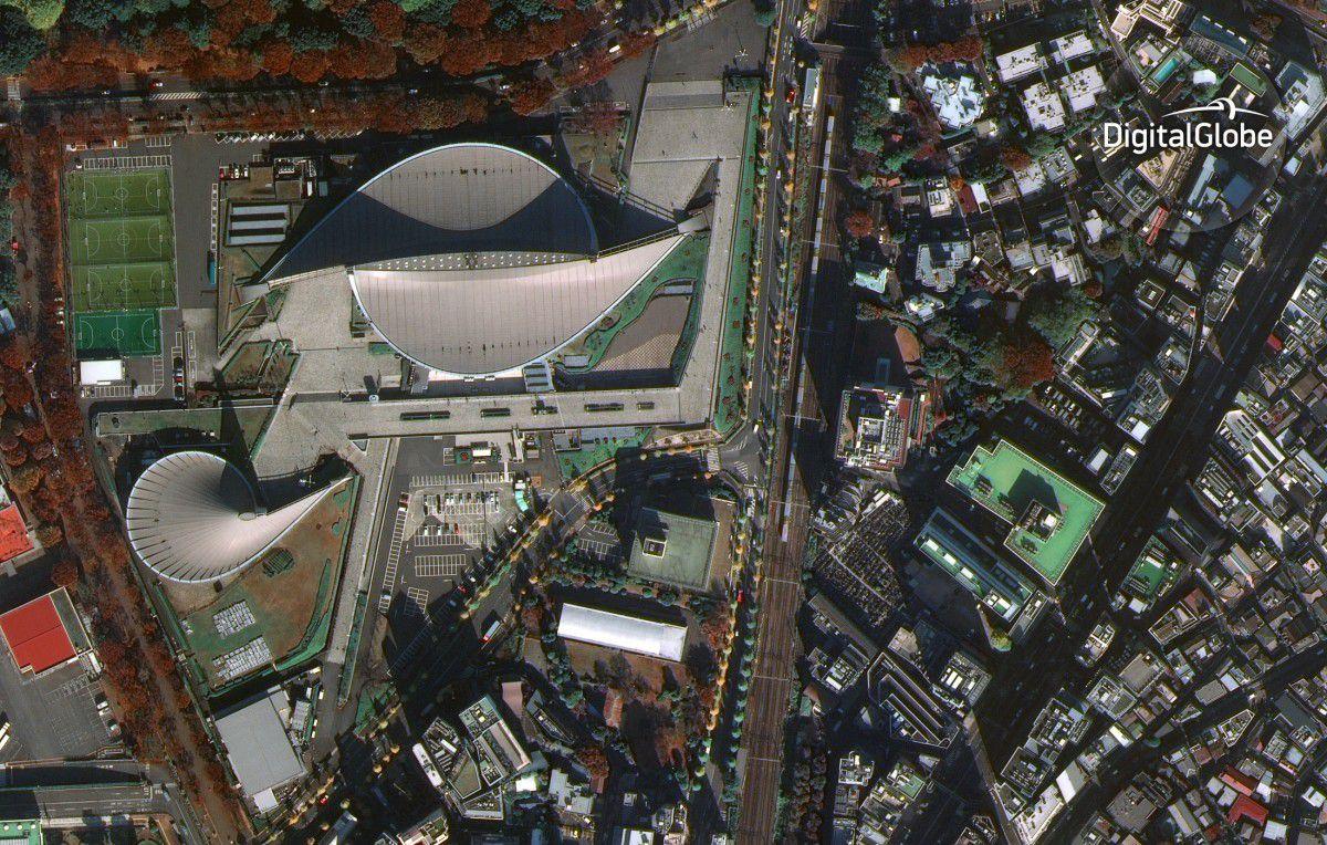 WorldView-4 - Satellite - First image - Première image - Tokyo - Yoyogi National Gymnasium - 30 cm resolution - Digital Globe
