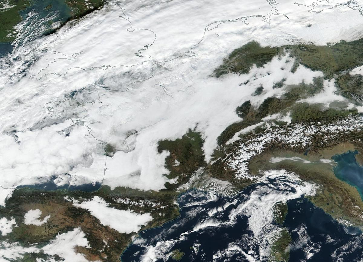 Bonne année 2017 - Nouvel an - Neige - Suomi NPP - NASA