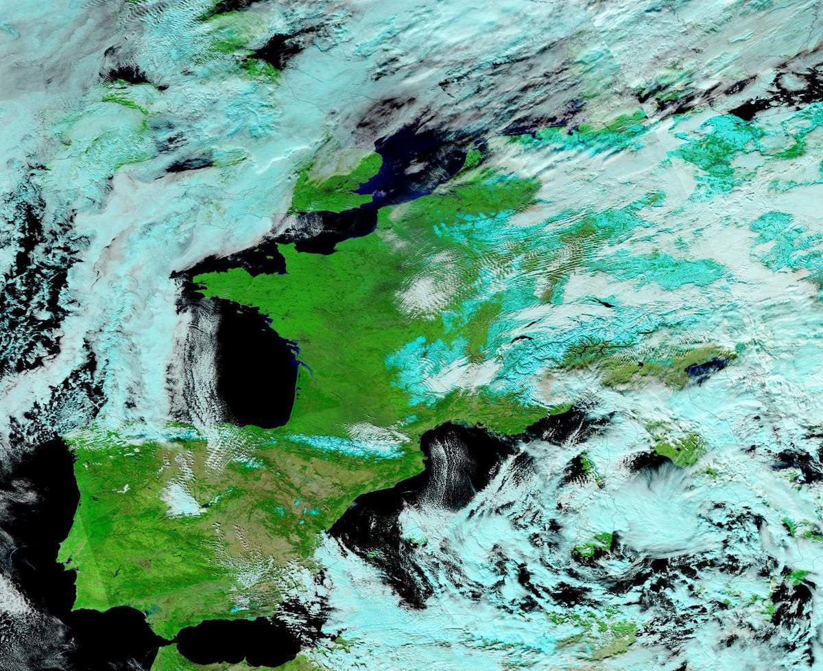 Europe - France - Vague de froid - Neige - Janvier 2017 - Suomi NPP - NASA