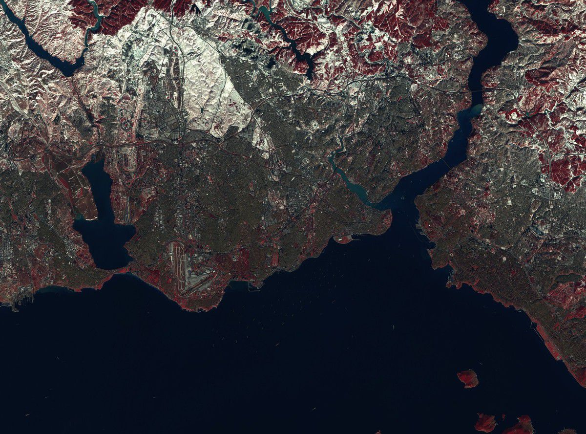 Istanbul - Turquie - Sentinel-2 - Copernicus - satellite - ESA - European Commission - satellite - neige