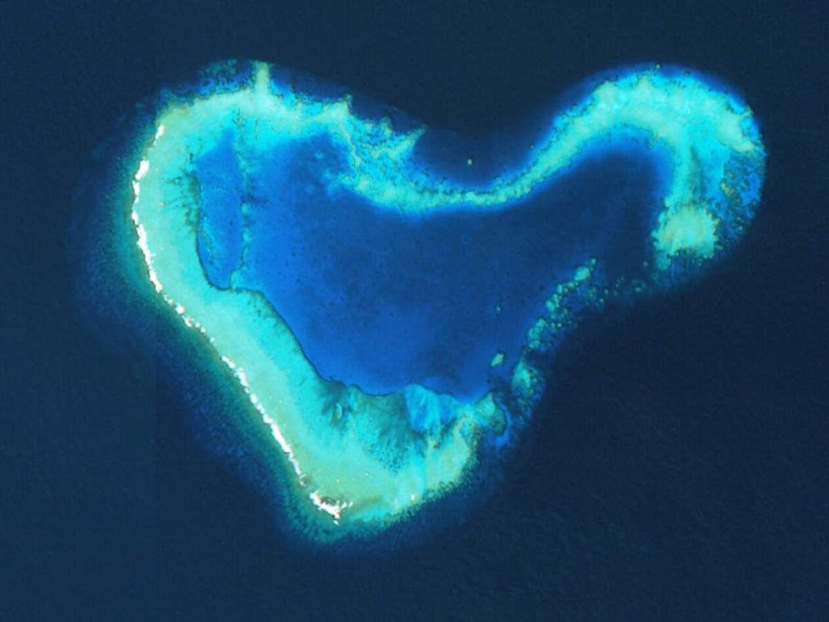Saint-Valentin - Quiz 2017 - île en forme de coeur - île des amoureux - satellite - espace