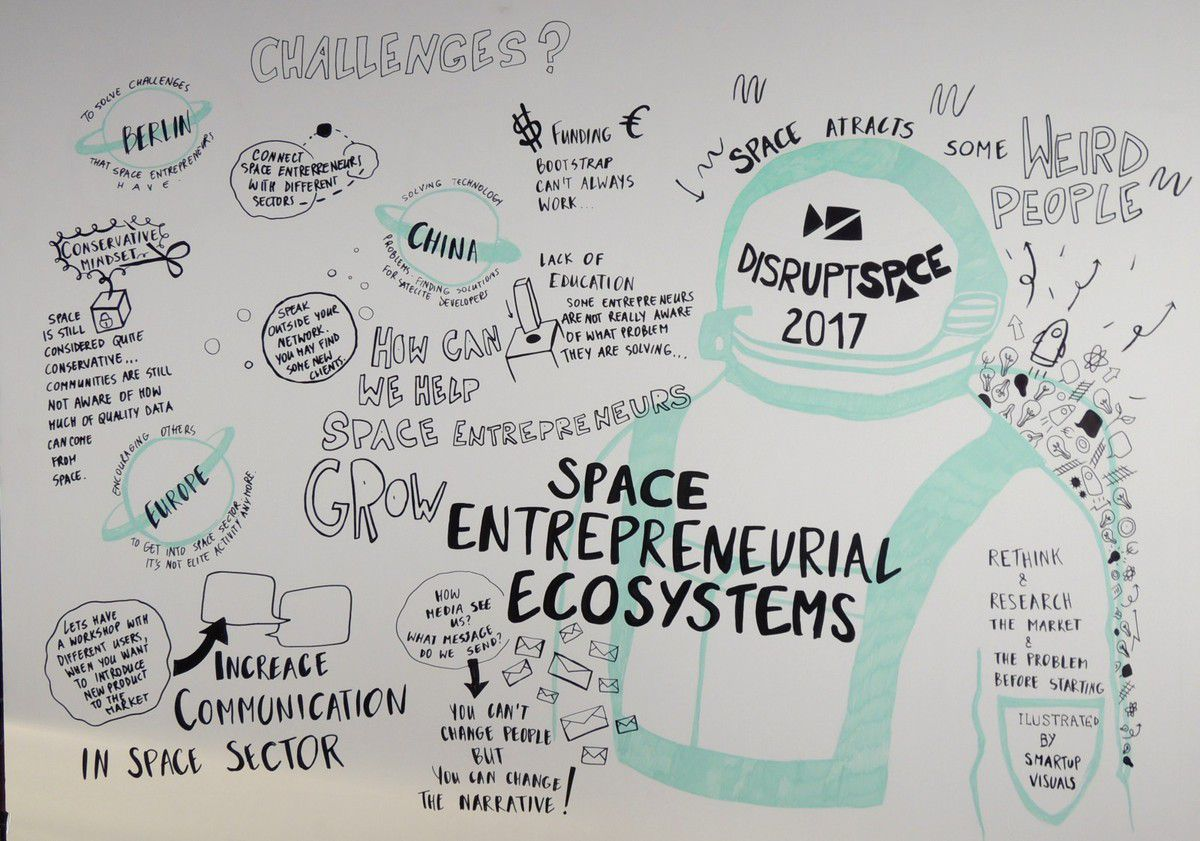 Disrupt Space - 2017 - Berlin - Space entrepreneurial ecosystems - Smartup Visuals