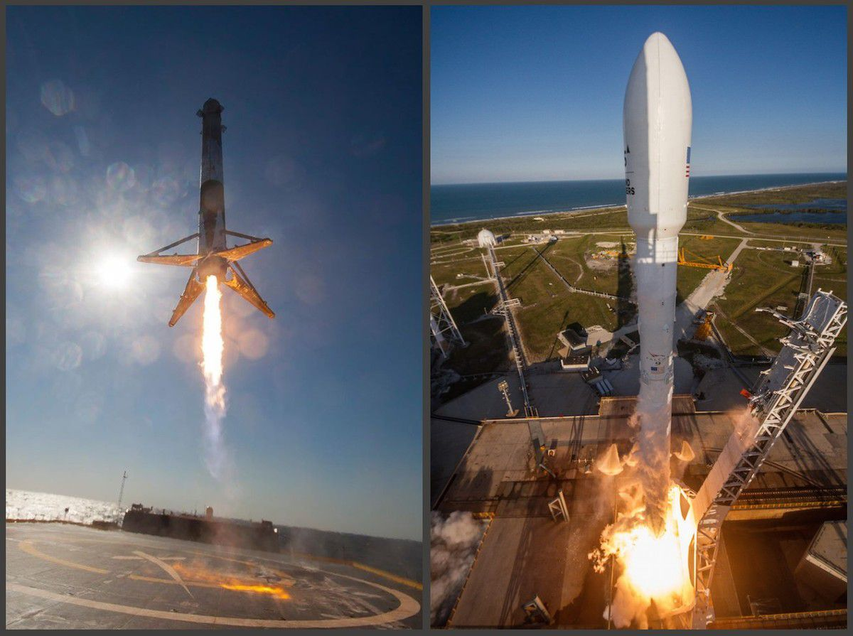 SpaceX - SES 10 - Première - landing and reuse - First stage - Falcon 9 - History - 30 mars 2017 - Elon Musk