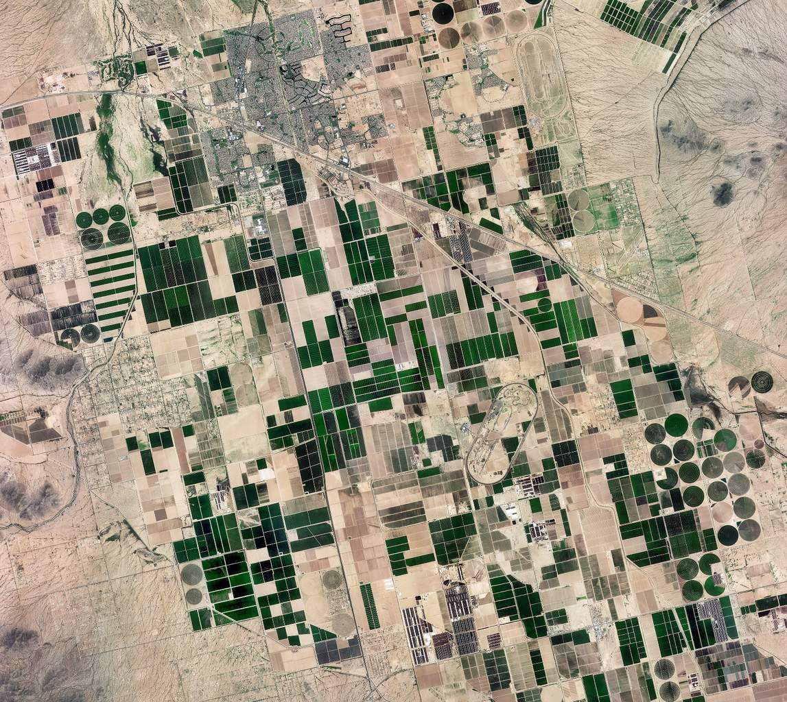 Venµs - Venus - Premières images - first images - satellite - Earth observation - Irrigation - Phoenix - Arizona - CNES - CESBIO