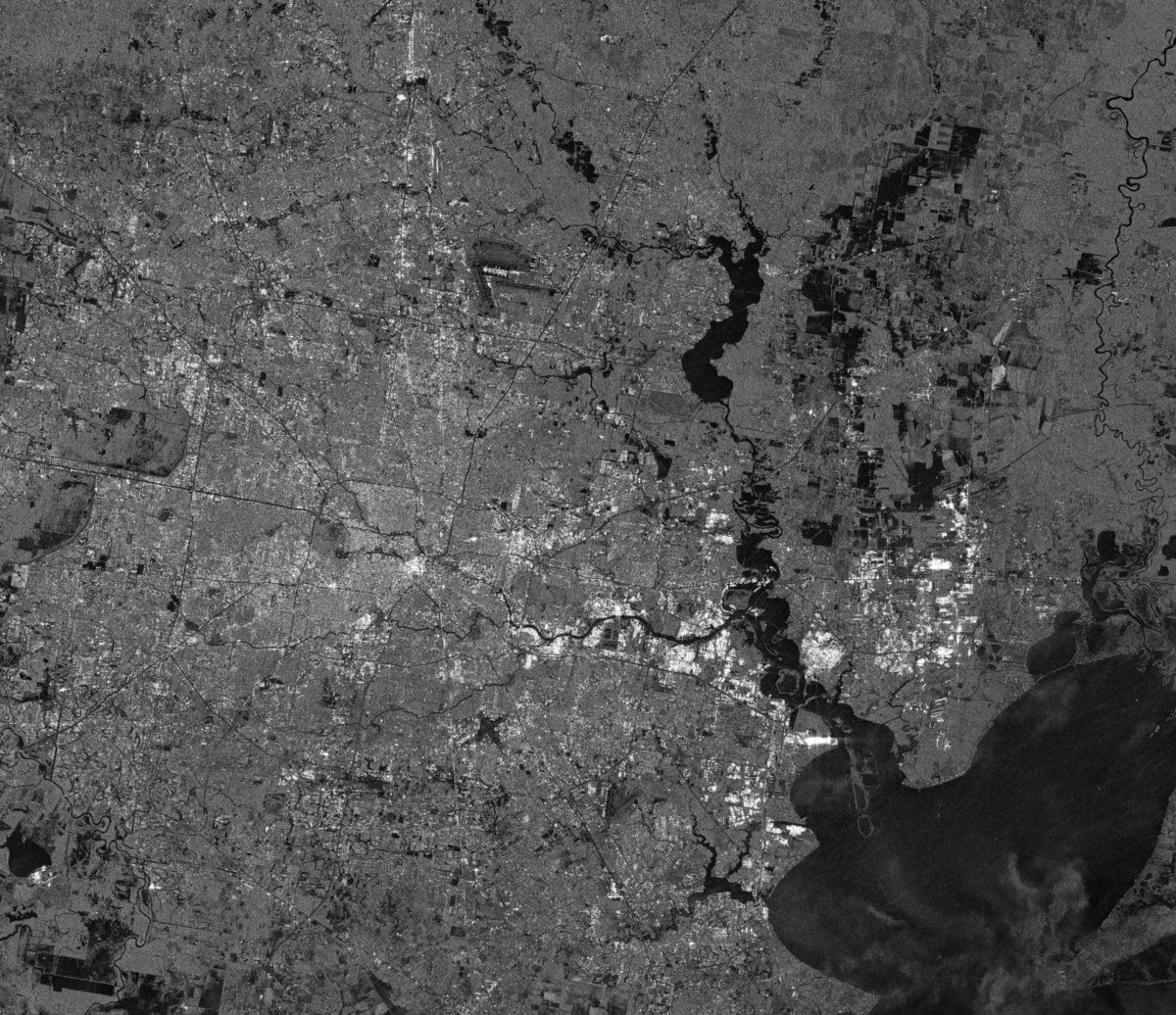 Houston - floods - inondations - Harvey - sentinel-1 - satellite - radar - ESA - Copernicus - Airbus